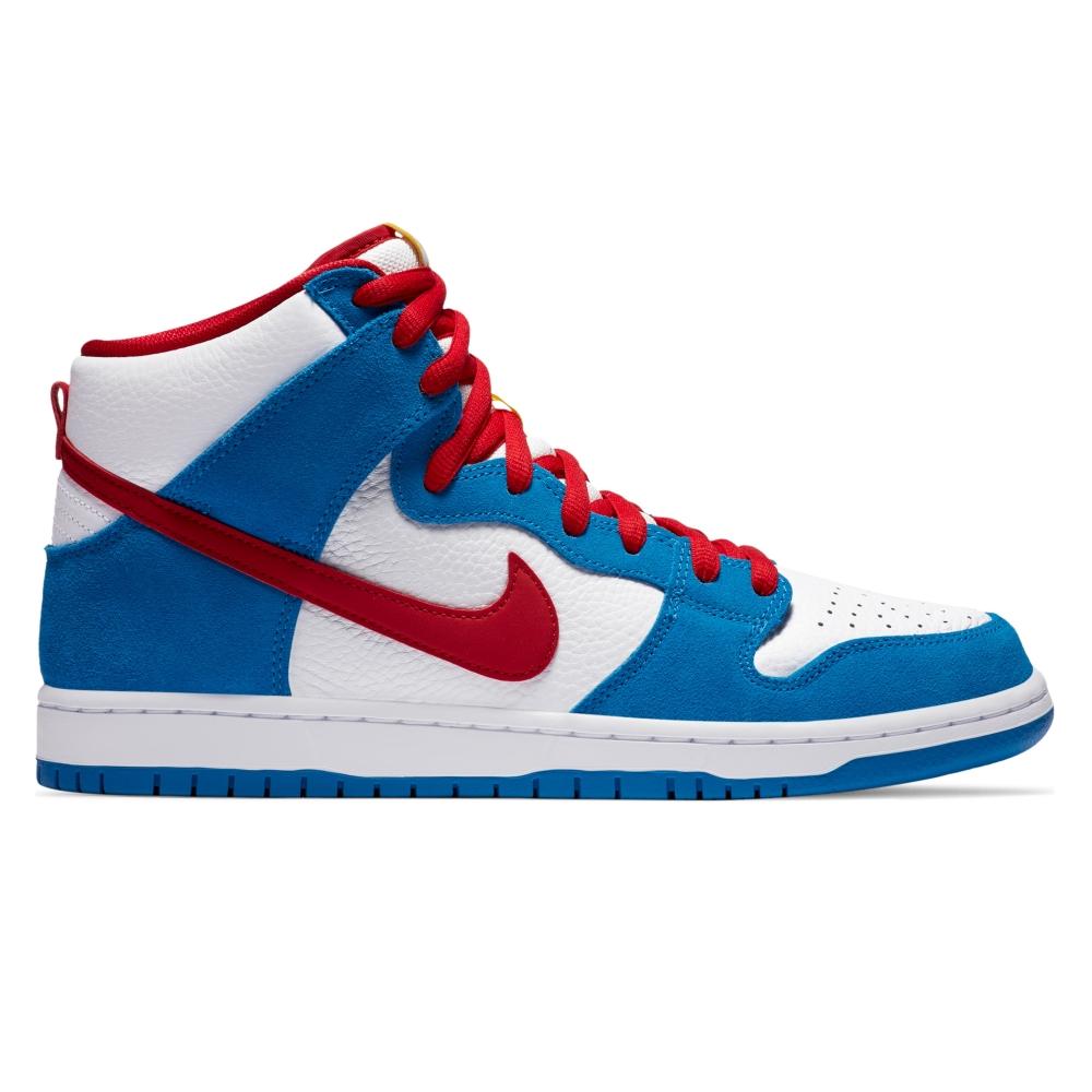 Nike SB Dunk High Pro ISO (Light Photo Blue/University Red)