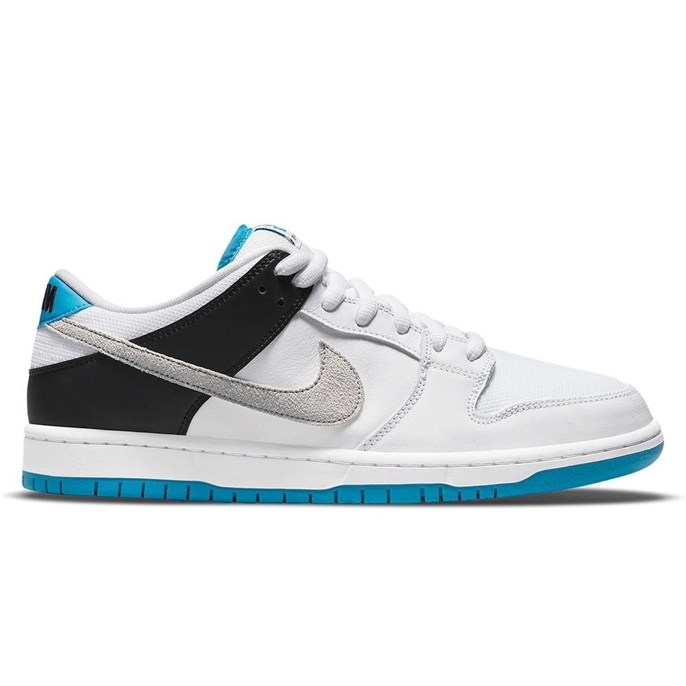 Nike SB Dunk Low Pro 'Laser Blue' (White/Neutral Grey-Black-Laser Blue)