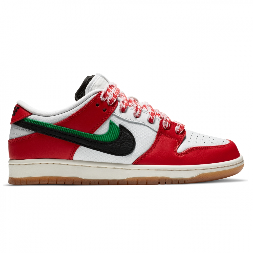 Nike SB x Frame Skate Dunk Low Pro 'Habibi' QS (Chile Red/Black-White-Lucky Green)